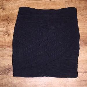 Black fitted BCBG skirt